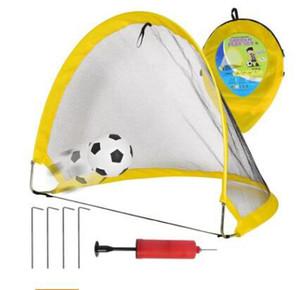 3 Piezas de Fútbol Plegable Net Goal Port Extra-Sturdy Portable Soccer Ball Practice Niños Estudiantes Soccer Goal Equipo de Entrenamiento de la Puerta