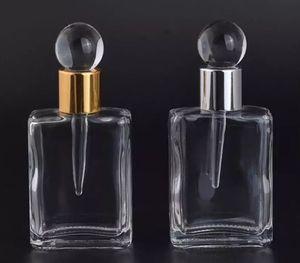 Gotero de 17 ml Botella recargable vacía Señora Regalo Botella de perfume de cristal de la vendimia Botella de perfume portátil portab