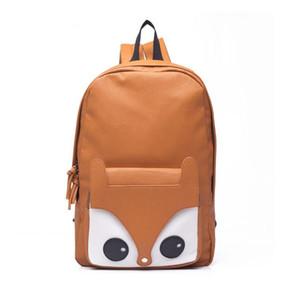 Venda quente Moda Fox Mochila De Couro Mochila saco de Escola Bolso Bolsa Mochilas Para Meninas Da Escola Kanken
