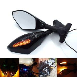 Para CBR 600RR 2003 2004 Retrovisor de la motocicleta con luz giratoria Para HONDA CBR600RR 2003 2004 CBR-600RR 03 04