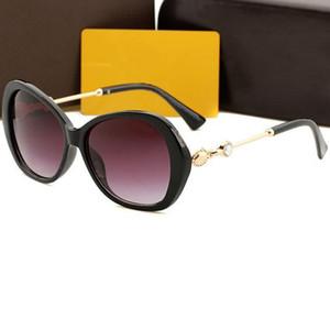 Occhiali da sole di diamante del progettista degli occhiali da sole donne Classic grande cornice di vetro di Sun 100% protezione UV Eyewear 4 colori di Nizza Viso