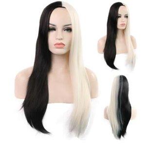 2018 pelucas, señoras de la moda europea y americana en la fuente directo directo de la fábrica del pelo recto de la peluca del pelo recto de la fuente adecuada