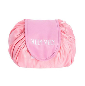 New vely lazy Makeup Storage Bags 8 Colors Drawstring Wash Bag Makeup Storage Travel Pouch Magic Toiletry Bag DHL Free Shipping