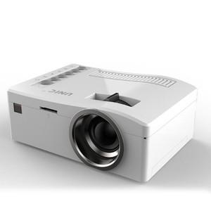Heißer verkauf Ursprüngliche Unic UC18 Mini LED Projektor Tragbare Taschenprojektoren Multimedia Player Heimkino-spiel Unterstützt HDMI USB TF Beamer