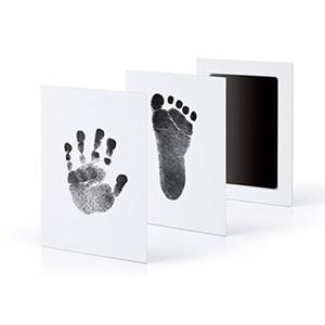 Não-Tóxico Impressão Do Bebê Pegada Impressão Kit Casting Parent-criança Mão Inkpad mão-pé selo pad Infantil Lembranças Brinquedos 6 cores C4799