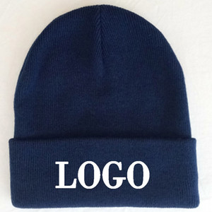 Bonnets de marine personnalisés Adult hiver élastique chaud cap Embrodiery logo Skullies Bonnets acrylique Normal grande taille vêtements chapeaux