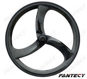 700C tri-radios en las ruedas del carbón del remachador de 56mm piñón fijo de 3 radios de diseño único para Tiempo / Pista / Roadl Racing carbón de la bicicleta Wheeler
