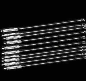 Detergenti per fazzoletti 100X Pulitori per la pulizia di paglia di nylon Spazzola per la pulizia di tubi in acciaio inossidabile