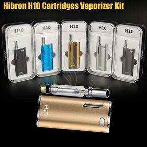 Auténtico Hibron H10 Starter Kit 650mAh 10W Caja Mod Aceite grueso mejorado CE3 BUD CO2 0.8ml Cartuchos Atomizador O pluma Mystica Vaporizadores vape