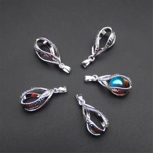 10 spiral su damla uçucu yağ difüzörü - gümüş inci kafes kolye - daha çekici hale getirmek için kendi incisi artırır