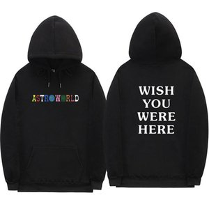 2018 Travis Scott Astroworld hoodies lettre mode d'impression à capuche streetwear homme et femme sweat-shirt