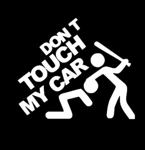 Car Stickers Special Design Donot Touch My Car Funny Car Covers Body Dacel Enligh Letters Personalized Sticker