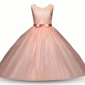 Baby flower dress TUTU lace Princess vestidos 2018 nueva moda de verano Ropa para niños Boutique girls Ball Gown 8 colores C3547