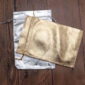 50pcs 소량 저렴 한 패브릭 황금 실버 Jewerly 디스플레이 및 저장소 파우치 크리스마스 웨딩 사탕 파티 파우치 가방