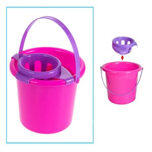 Fun Cleaning Play Set Girls Housekeeping Pink Broom Mop Bucket Dustpan Cleaning Brush Sweep Pretend Play Toy Kit