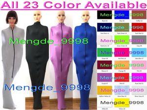 Sexy 23 colori Lycra Spandex Mummia Suit Costumi Sacchi a pelo Unisex Sexy Body Bags Sacchi a pelo Mummia costumi con maniche interne M326