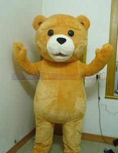Oyuncak ayı maskot kostüm Ücretsiz Kargo Yetişkin Boyutu, sevimli ayı maskot lüks peluş oyuncak karnaval parti maskot fabrika satış kutlamaktadır.