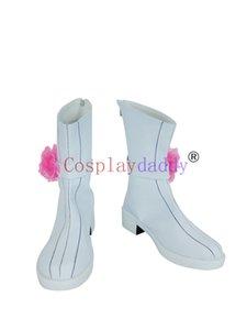 Amnesia Heroine Weiß Halloween Short Cosplay Schuhe Stiefel H016
