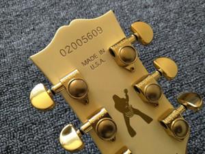 Tinta de oro zakk wylde en la parte posterior del cabezal, interruptor de anillo negro actualizado, zakk wylde bullseye crema negra guitarra eléctrica EMG Pastillas activas