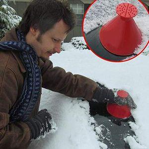 جديد كشط جولة الجليد مكشطة سيارة الزجاج الأمامي مكشطة الثلوج مخروط على شكل الجليد 4 ألوان