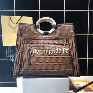 Newset F doppia lettera di grande capienza del cuoio genuino maniglia tessuto Borse Donne modello lettera borse della borsa a tracolla Messenger bag