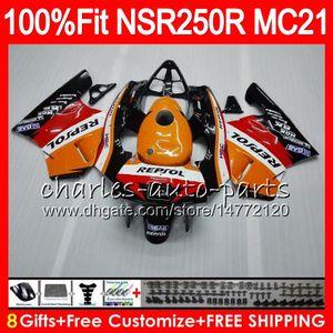 Einspritzung für HONDA NSR 250 R MC21 PGM3 NSR250R 90 91 92 93 84HM.0 NSR250 R RR NSR 250R NSR250RR 1990 1991 1992 1993 Verkleidung Repsol Orange