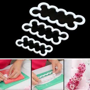 새로운 플라스틱 DIY 로즈 꽃 커터 메이커 퐁당 케이크 금형 장식 도구 설탕 인쇄 쿠키 비스킷 공예 금형