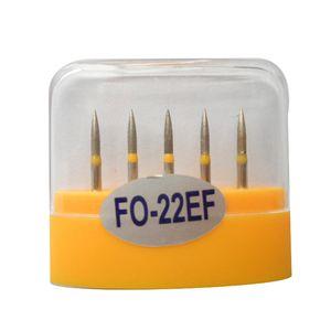 1 paquet (5pcs) fraises diamantées dentaires FO-22EF moyen FG 1.6M pour pièce à main dentaire haute vitesse nombreux modèles disponibles