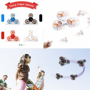 Flying Fidget Spinner Mini Перезаряжаемый автоматический вращающийся летающий палец Spinner Тревога стресс-релиз игрушка волчок AAA228