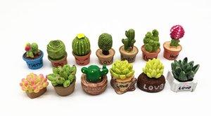 Umweltfreundliche Weihnachten Kleine Saftige Blumenvase Set Miniatur-Fee-Garten Innendekoration Puppenstuben Micro-Dekor Diy Geschenk Umzug Wald