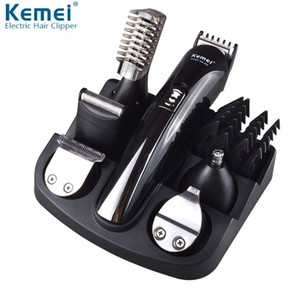 KEMEI KM-600 Professional 6 in 1 전기 머리 트리머 Hair Clippers 충전식 면도기 면도기 수염 면도기