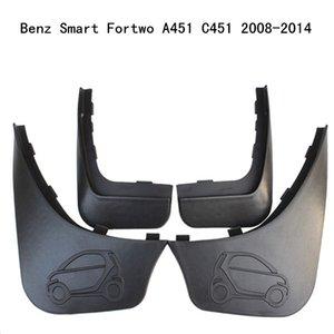 4pcs / set viaturas mudflaps respingo Guardas da aleta da lama lamas Fender Para Benz Smart Fortwo A451 C451 2008 2009 2010 2011 2012 2013 2014