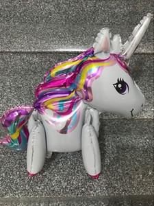 Balões de unicórnio Decorações Do Partido 3D Unicorn Balões Suprimentos 1 pc Engagement Wedding Dia das Crianças Foil para crianças