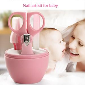 Conjunto de Manicure para Crianças Do Bebê Scissor Clipper Lixa de Unhas Pinças Nail Art Kit Cutter Grooming Cuidados de Saúde Kit de Ferramentas de Cuidados Seguros