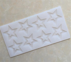 3D Star Shape Stampo in silicone Cake Decorating Tools Stampo in silicone Cupcake Stampo in cioccolato Decor Muffin Pan Baking Stencil