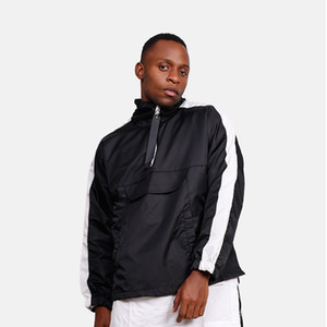 Streetwear hip hop hoodie men top new fashion design hooded sweatshirt big pocket stand collar clothes