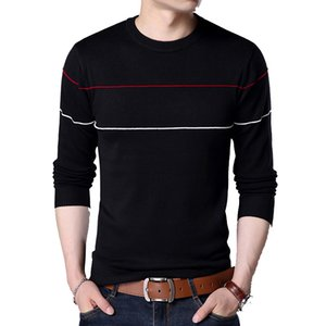 2018 New Autumn Casual Sweater Hombres Escote en V Slim Fit Hombre Suéteres Jerseys de algodón 5 colores LEGIBLE