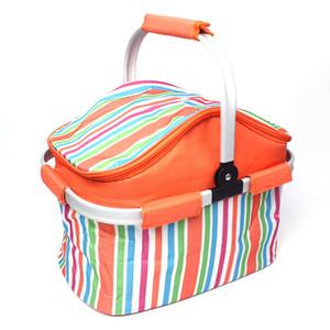 Kalınlaşmak Piknik Çantası Aşınma Dayanıklı Şerit Taze Tutmak Isı Koruma Sepeti Su Geçirmez Katlanır Araba Soğutucu Çanta Açık 30gt B