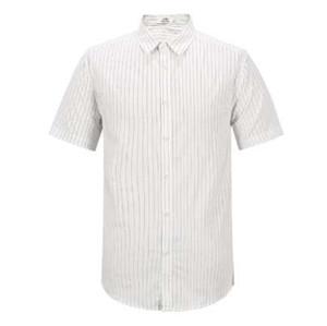 abbigliamento in cotone camicia a righe Enjeolon nuova estate maglia maniche corte uomo maschio casuale per la camicia uomo spiaggia vestiti C2252