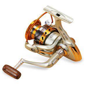 Yumoshi EF1000-7000 12BB 5.2: 1 Carretel de pesca giratória em metal Roda com mosca para água doce / salgada Pesca marítima Carretel de pesca carpa Pesca