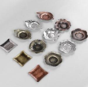 50pcs Creative Tea Crays Hot Insulation Plate Tea Pad Tai Ware Tea Pot Table Protect Leave Leave Shape Tea Tools