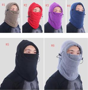 9 colore inverno caldo pile berretti da uomo per gli uomini cranio bandana scaldacollo passamontagna sci snowboard maschera per il viso ispessimento