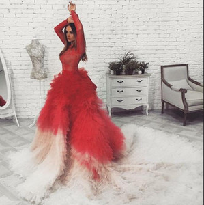 Evening dress Yousef aljasmi Kim kardashian Long sleeve LaceTiered Mermaid Long dress Almoda gianninaazar ZuhLair murad Ziadnakad