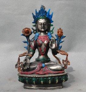 Навидад antiguo Tíbet budismo плата Бланко Тара Диоса Кван-инь Guanyin estatua де Буда Хэллоуин