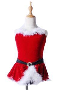 Crianças de Natal Adulto Professional dança roupas Red Ballet Roupa prática da menina da bailarina Veil Dancewear L121