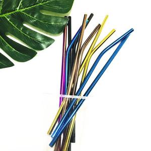 Or réutilisable or rose couleur noire arc-en-ciel en acier inoxydable 304 pailles droites coudées pour pour la tasse 900ML