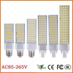 편평한 빛 E27 E14 G24 G23 SMD5050 LED 옥수수 전구 수평 한 마개는 가벼운 램프 10W 14W 18W 22W 24W 26W 180degree 85-265V를지도했습니다