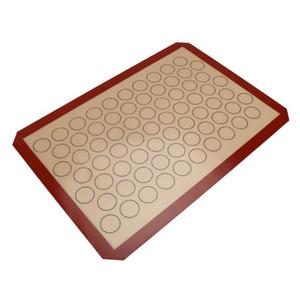 42 * 29.5cm pişirme mat yapışmaz silikon yastık sac bakeware pasta araçları haddeleme hamur mat kek kurabiye macaron için daha büyük boyutta