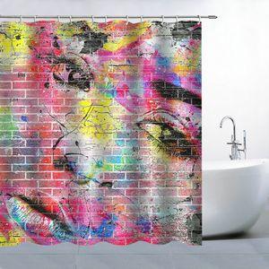 Creative Fabric Shower Curtain Colorful Beauty Gir Bathroom Waterproof Not Transparent Classic Bath Shower Curtain
