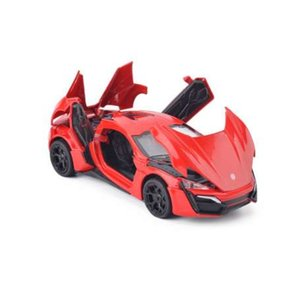 Modèles de voitures en alliage Lykan Hypersport rapides et furieux Quatre Collection de voitures en métal couleur Jouets pour enfants véhicules jouets